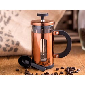 Creative Tops Cafetiere 3-Cup Copper Finish Coffee Maker