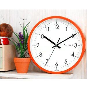 Decowall 22 cm Orange Non ticking Wall Clock
