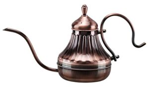 Diguo Hand Drip Kettle Pour Over Coffee and Tea Pot 450ml (Copper)