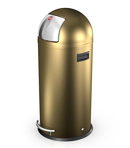 Hailo Kickmaxx 38 Litre Push Top Kitchen Bin - Gold