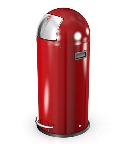 Hailo Kickmaxx 38 Litre Push Top Kitchen Bin - Red
