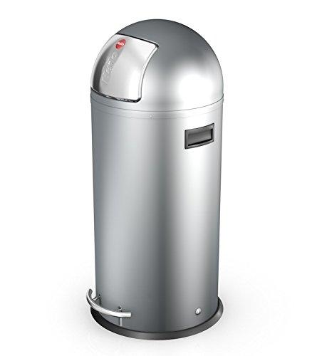 Hailo Kickmaxx 38 Litre Push Top Kitchen Bin - Silver