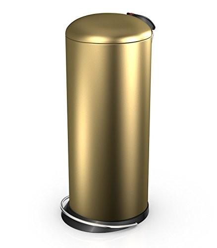 Hailo 26 Litre Designer Kitchen Pedal Bin - Gold