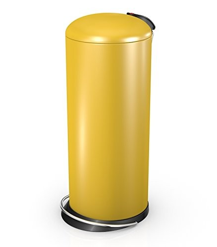 Hailo 26 Litre Designer Kitchen Pedal Bin - Honey Yellow