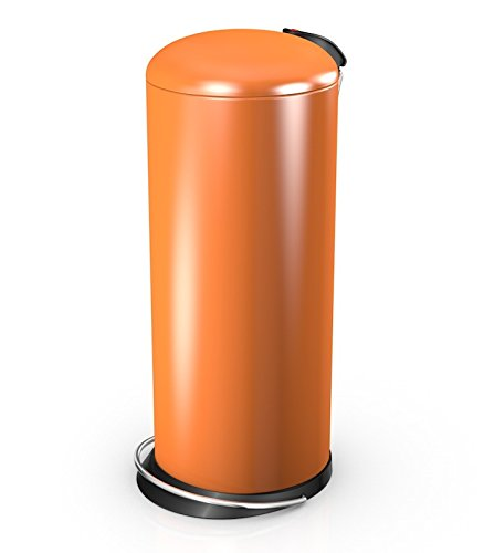 Hailo 26 Litre Designer Kitchen Pedal Bin - Orange