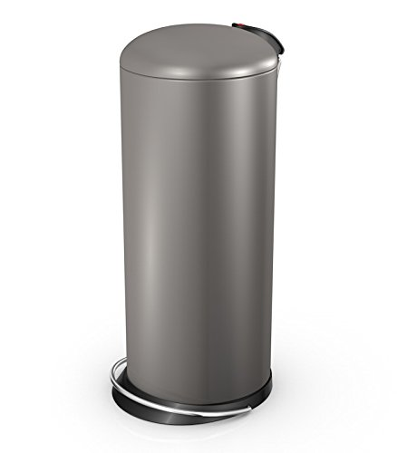 Hailo 26 Litre Designer Kitchen Pedal Bin - Pearl Grey