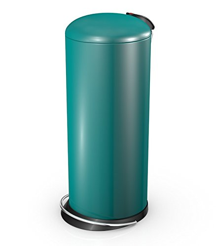 Hailo 26 Litre Designer Kitchen Pedal Bin - Peppermint Teal Blue