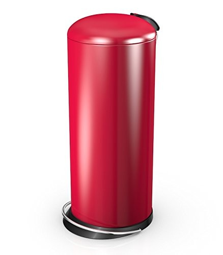 Hailo 26 Litre Designer Kitchen Pedal Bin - Raspberry Red