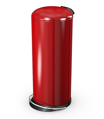 Hailo 26 Litre Designer Kitchen Pedal Bin - Red