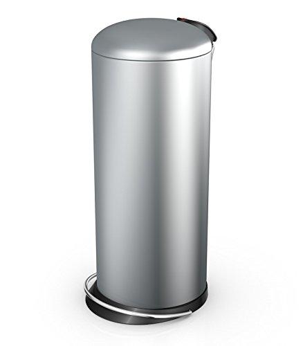 Hailo 26 Litre Designer Kitchen Pedal Bin - Silver