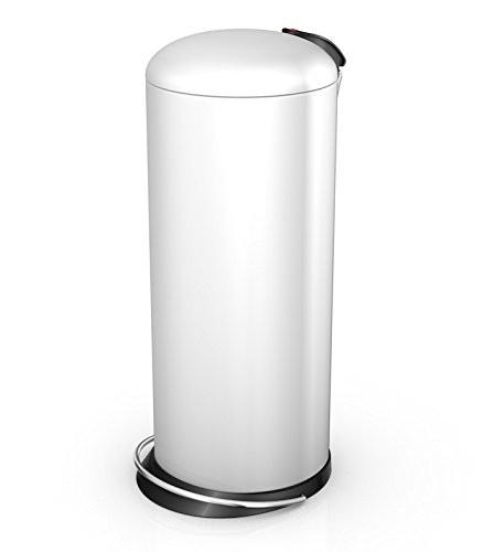 Hailo 26 Litre Designer Kitchen Pedal Bin - White