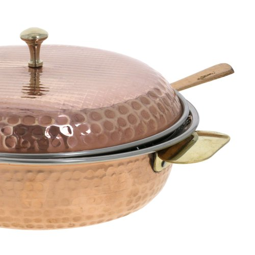 Indian Serveware Donga Copper Serving Bowl Tureen
