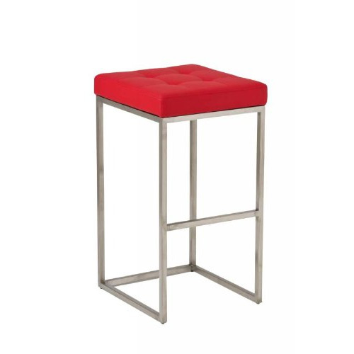 CLP Lugano Square Bar Stool Red