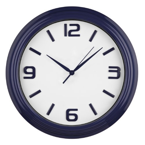 Premier Housewares Round Kitchen Wall Clock Midnight Blue