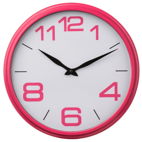 Premier Housewares Hot Pink Kitchen Wall Clock