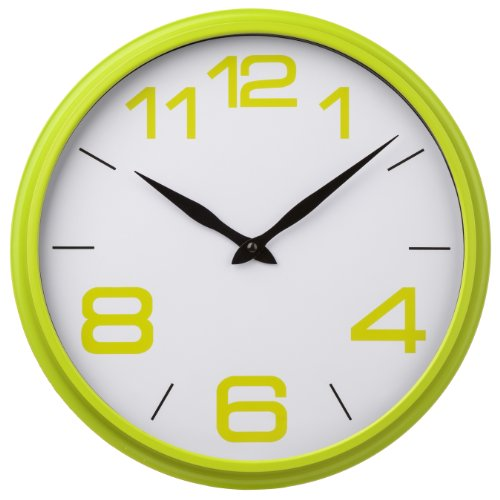 Premier Housewares Lime Green Kitchen Wall Clock