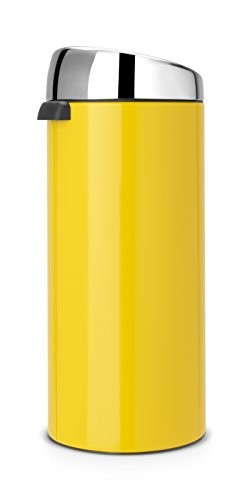 products bins brabantia 30 litre soft touch bin lemon yellow
