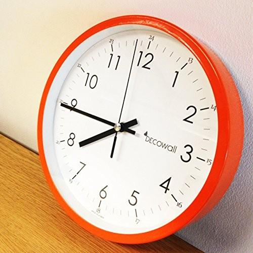 Decowall 22 Cm Orange Non Ticking Wall Clock My Kitchen