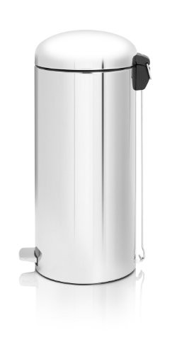 Brabantia 30 Litre Retro Bin - Brilliant Steel