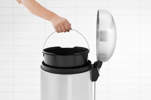 Brabantia 30 Litre Retro Bin - Matt Steel Fingerprint Proof