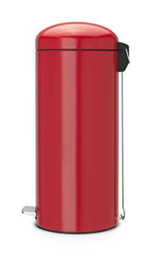 Brabantia 30 Litre Retro Bin - Passion Red