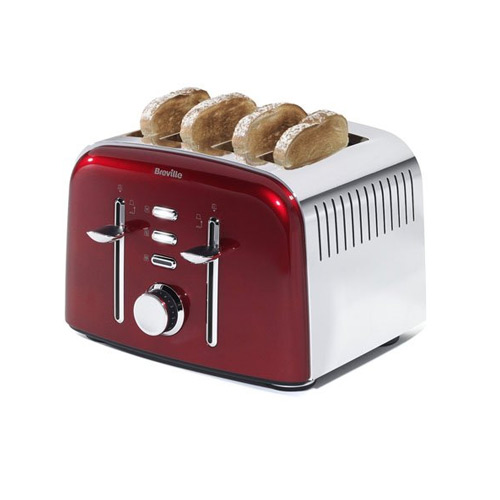 breville aurora 4 slice toaster red my kitchen accessories. Black Bedroom Furniture Sets. Home Design Ideas