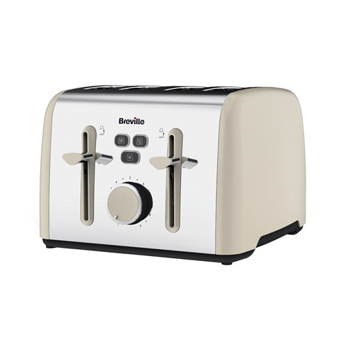 Breville Colour Notes 4-Slice Toaster - Cream