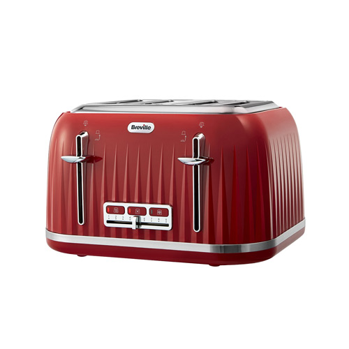 breville impressions 4 slice toaster red my kitchen accessories. Black Bedroom Furniture Sets. Home Design Ideas