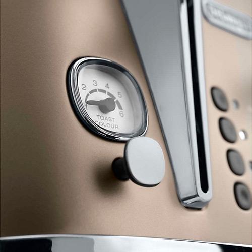DeLonghi Distinta 4-Slice Toaster, Bronze