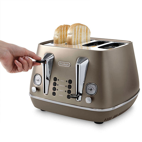 DeLonghi Distinta 4-Slice Toaster, Bronze