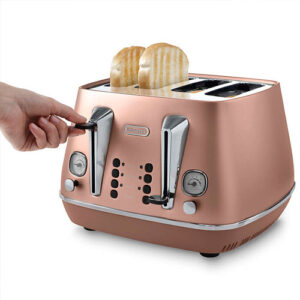 DeLonghi Distinta 4-Slice Toaster, Copper