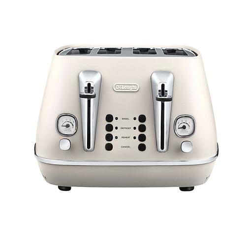 DeLonghi Distinta 4-Slice Toaster, White