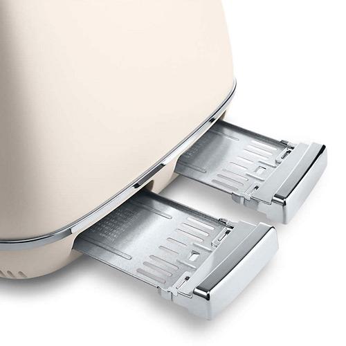 DeLonghi Distinta 4-Slice Toaster, White