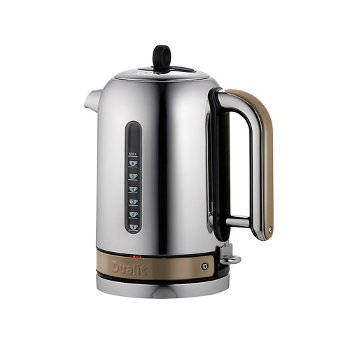 Dualit Stainless Steel Made to Order Classic Kettle - Beige Brown Gloss