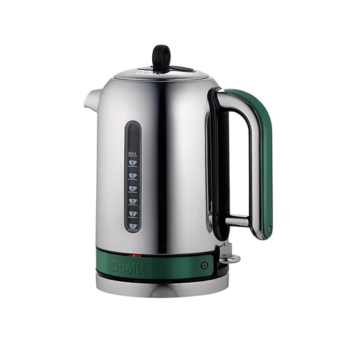 Dualit Stainless Steel Made to Order Classic Kettle - Moss Green Matt