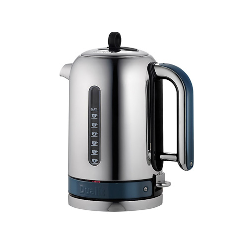 Dualit Stainless Steel Made to Order Classic Kettle - Ocean Blue Gloss