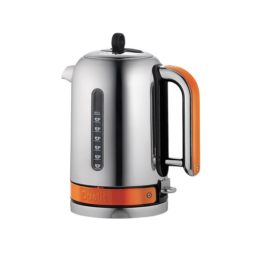 Dualit Stainless Steel Made to Order Classic Kettle - Orange Gloss