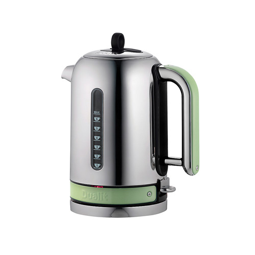Dualit Stainless Steel Made to Order Classic Kettle - Pale Green Matt