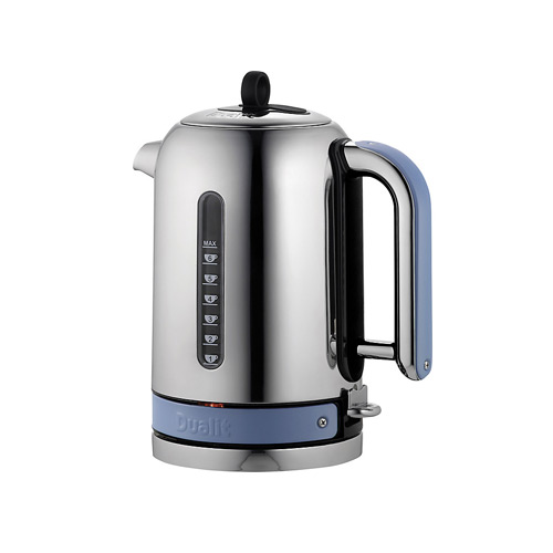 Dualit Stainless Steel Made to Order Classic Kettle - Pigeon Blue Matt