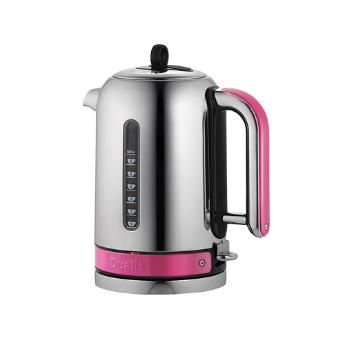 Dualit Stainless Steel Made to Order Classic Kettle - Pink Violet Gloss