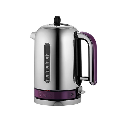 Dualit Stainless Steel Made to Order Classic Kettle - Purple Violet Gloss
