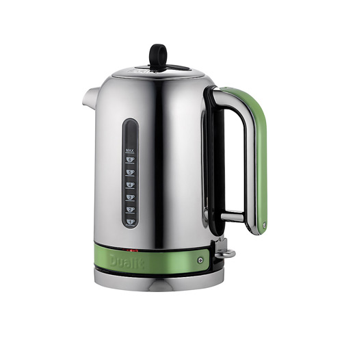 Dualit Stainless Steel Made to Order Classic Kettle - Reseda Green Gloss