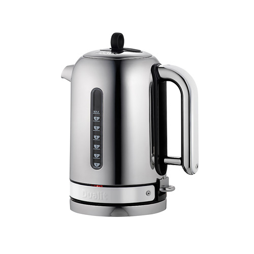 Dualit Stainless Steel Made to Order Classic Kettle - Telegrey Gloss