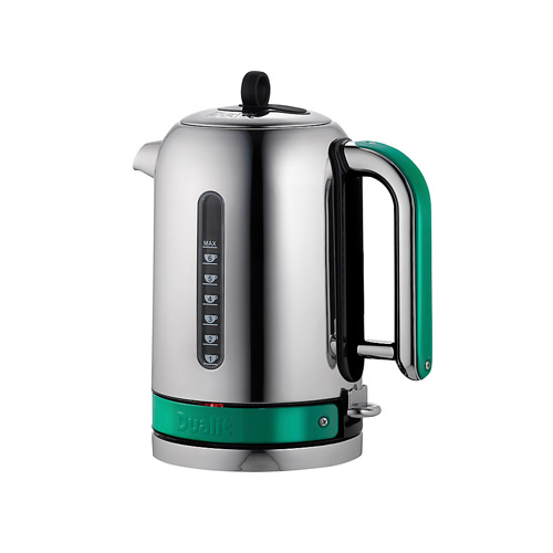 Dualit Stainless Steel Made to Order Classic Kettle - Turquoise Green Gloss