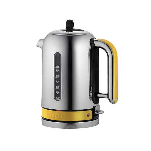 Dualit Stainless Steel Made to Order Classic Kettle - Yellow Gloss