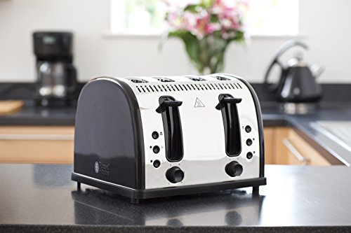 Russell Hobbs Legacy 4 Slice Toaster Black My Kitchen