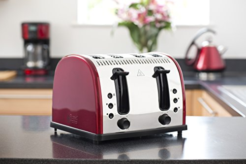 Russell Hobbs Legacy 4 Slice Toaster Metallic Red My