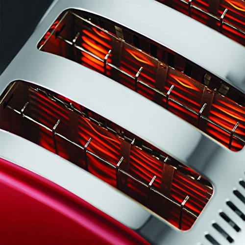 Russell Hobbs Legacy 4 Slice Toaster - Metallic Red