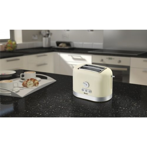 Swan 2-Slice Toaster - Cream