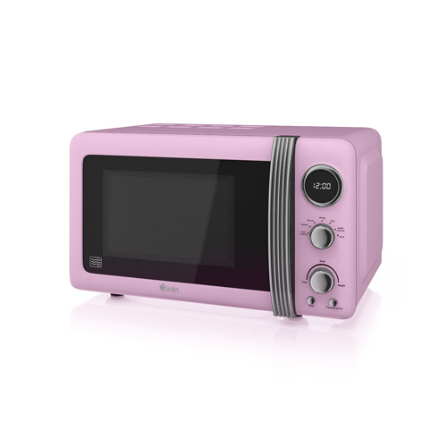 Swan Retro Pink Digital Microwave